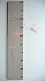 Groeimeter  van geboortekaartje kraamcadeau Juli