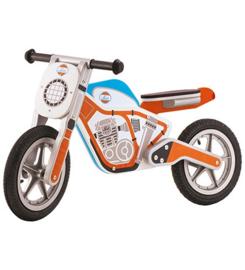Houten motor oranje