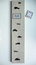 Groeimeter  naar aanleiding van geboortekaartje kraamkado Bob