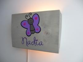 Lamp met naam vlinder