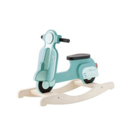 Houten schommel scooter vintage