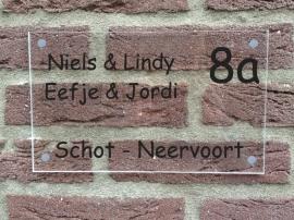 Naambord plexiglas Voornamen midden