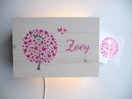 Kraamcadeau lamp van het geboortekaartje