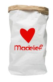 Paperbag met naam hart