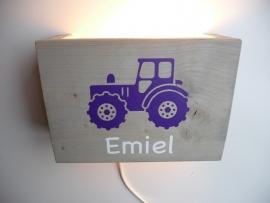 Lamp met naam tractor