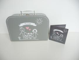 geboortekoffertje van het geboortekaartje kraamkado