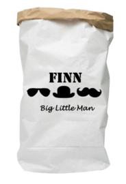 Paperbag met naam little man
