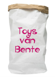 Paperbag met naam toys van ..