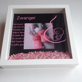 Persoonlijk cadeau 3D Zwangerschapslijst geld kado