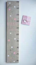 Groeimeter  van geboortekaartje uniek kraamcadeau Nikki
