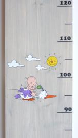 Groeimeter van geboortekaartje ooievaar
