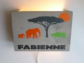 Lamp olifant en neushoorn