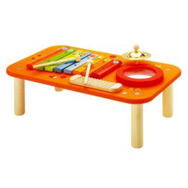 Houten muziek tafel