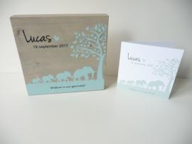 Geboortekaartje persoonlijk kraamcadeau Lucas