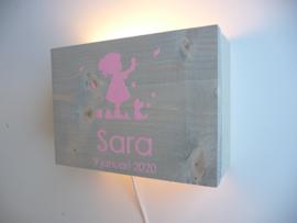 Lamp van het geboortekaartje persoonlijk cadeau
