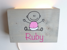 Lamp met naam baby meisje