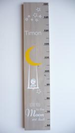 Groeimeter  van geboortekaartje kraamkado Timon