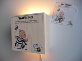 Persoonlijk cadeau Lamp van het geboortekaartje Jason