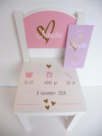 Kraam cadeau geboortestoeltje kaartje