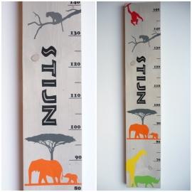 Groeimeter met naam safari