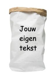 Paperbag met eigen tekst