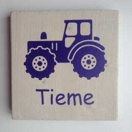 Naambord tractor