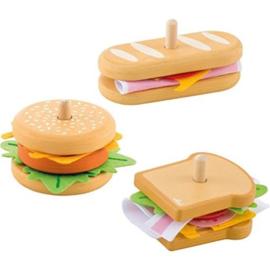 Houten sandwich shop 38 delig