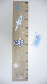 Groeimeter voor Cas naar aanleiding van zijn geboortekaartje