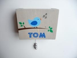 Muziekdoosje met naam vogel jongen