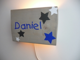 Lamp met naam old school ster