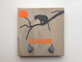 Kapstok met naam luipaard