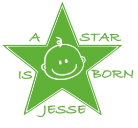 Geboortesticker A star is born