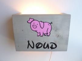 Lamp met naam varken