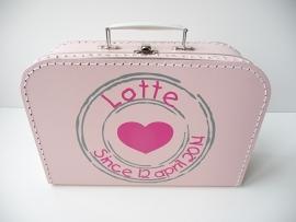 Koffertje met naam stempel lief meisje