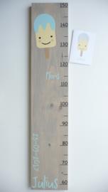 Groeimeter persoonlijk cadeau van geboortekaartje