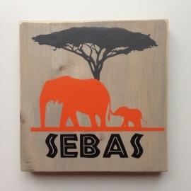 Naambord olifant
