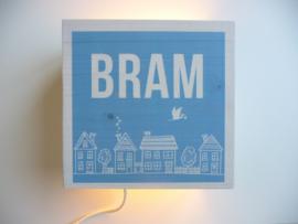 Lamp van het geboortekaartje gepersonaliseerd cadeau Bram