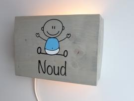 Lamp met naam baby jongen
