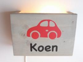 Lamp met naam auto