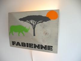 Lamp met naam neushoorn