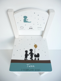 Geboortestoeltje kaartje
