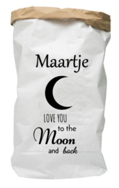Paperbag met naam Love you to the moon