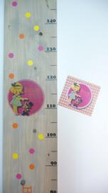Groeimeter voor Billie van haar geboortekaartje Kraamkado