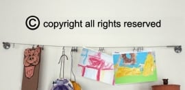 Muursticker copyright