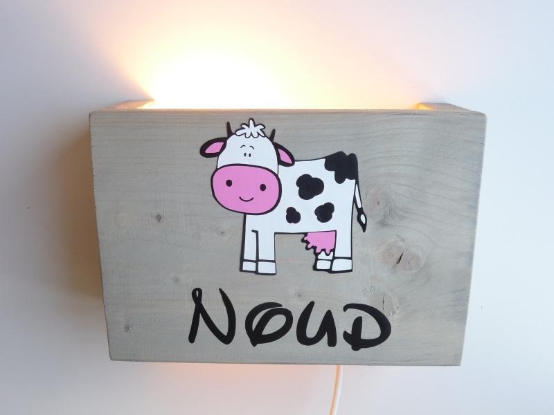 Lamp met naam koe