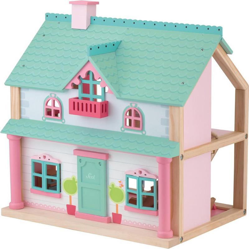 Beste Houten poppenhuis groot | Exclusief houten speelgoed | NaamKado & Zo ZA-81