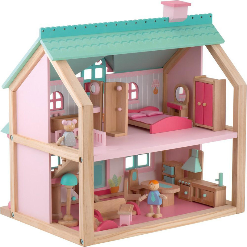 Verbazingwekkend Houten poppenhuis groot | Exclusief houten speelgoed | NaamKado & Zo QJ-56