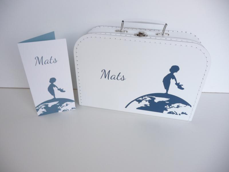 Kraamkoffertje met het geboortekaartje
