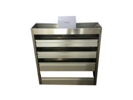 Aluminium kleppenkast CU-001