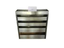 Aluminium kleppenkast Cu-057